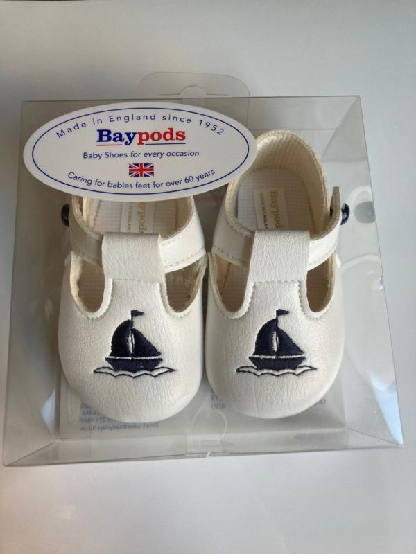 Boys sailor christening shoes boxed