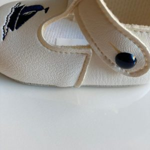 Boys sailor christening shoes single