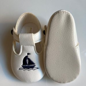 Boys sailor christening shoes sole