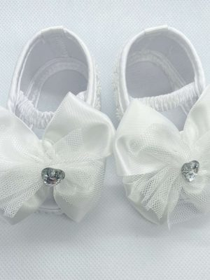 big bow shoes white front