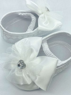 big bow shoes white side