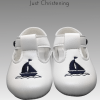boys white sailor christening shoes