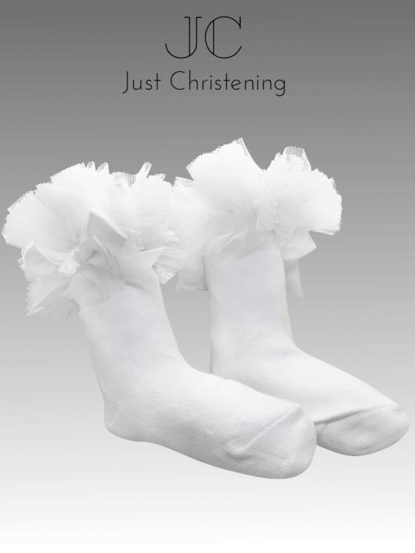 White calf socks pair