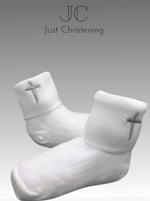 White cross socks