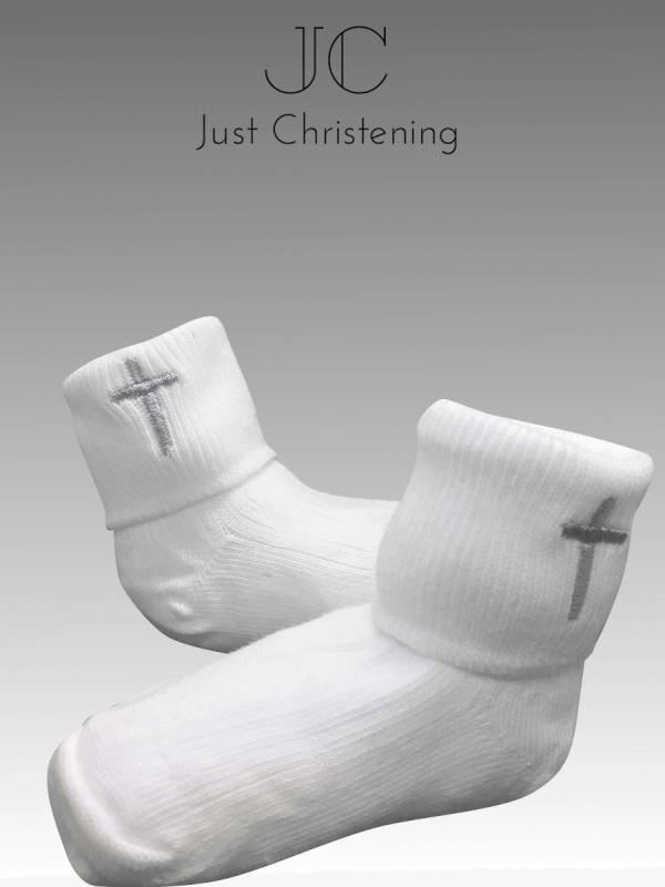 White cross socks