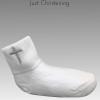 White cross socks single