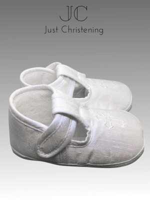 boys white christening cross boots