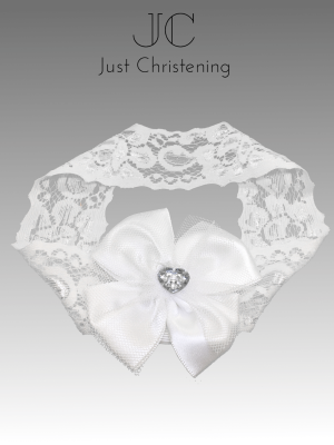 diamante heart headband