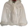 Christening cape poncho hood