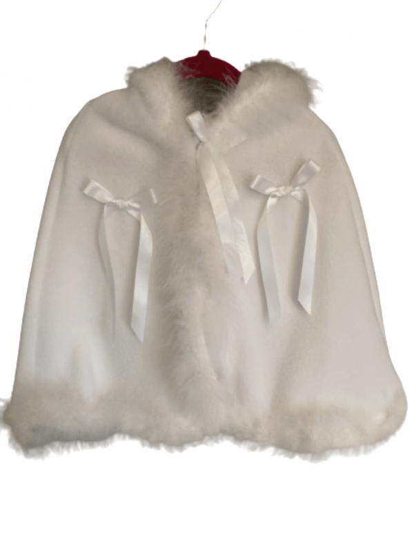 Christening cape poncho hood