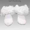 ruffle ankle socks white