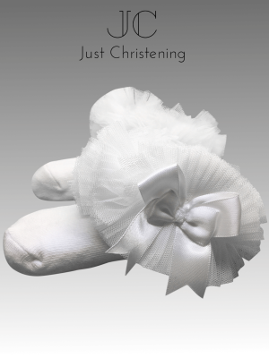 ruffle ankle socks white2