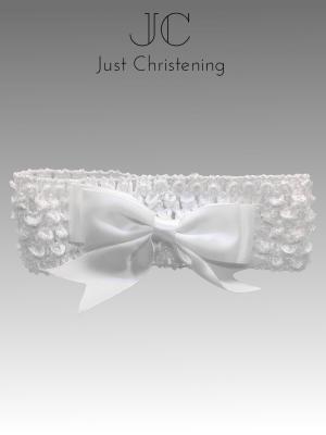 christening Bow headband