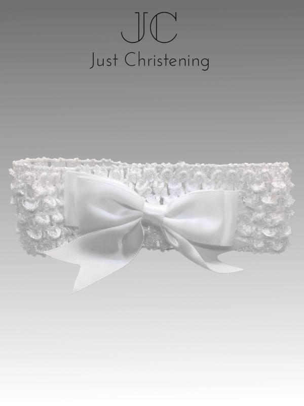 christening Bow headband