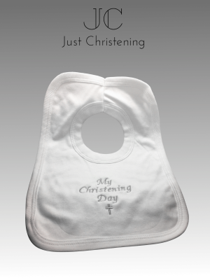 christening bib cotton