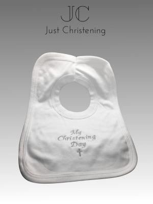 christening bib cotton