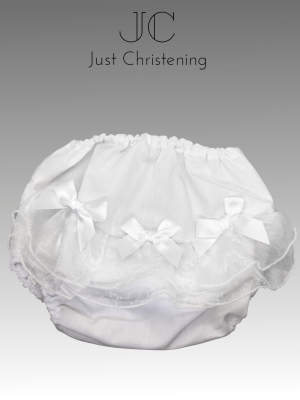 christening nappy cover bow