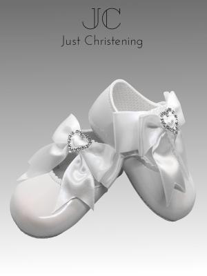christening white shoes diamante heart 1