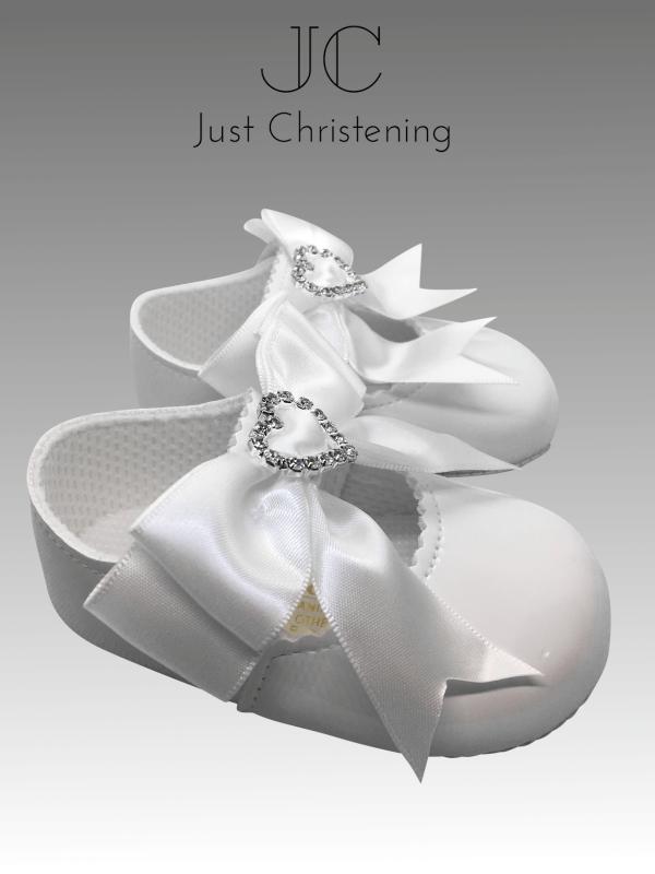 christening white shoes diamante heart 2