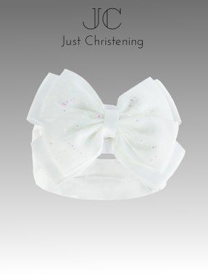Big bow glitter headband