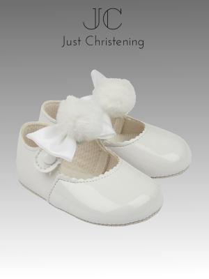 pom pom girls christening shoes