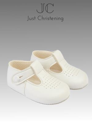 boys white strap shoes